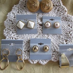 Bundle of 6 Gold-tone Fashion Earrings